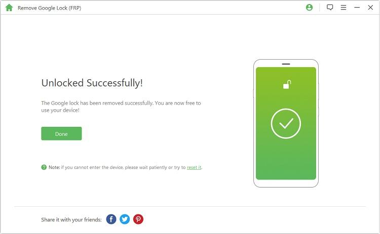 unlocked successfully